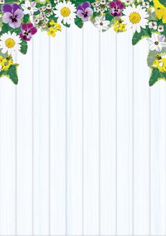 Flower gardening frame vertical