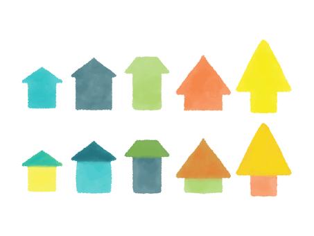 Watercolor Scandinavian little house