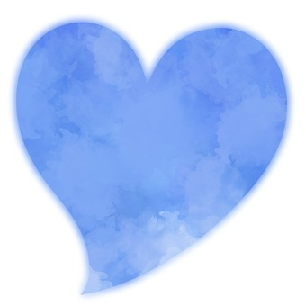 Watercolor style soft heart 2