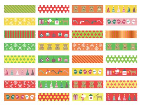 Christmas masking tape
