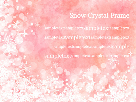 Snow crystal frame ver 09