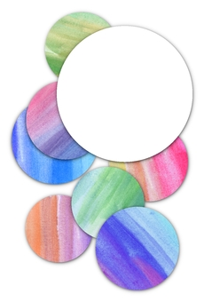 Watercolor round frame