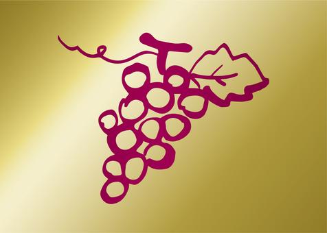 Grape label (gold)