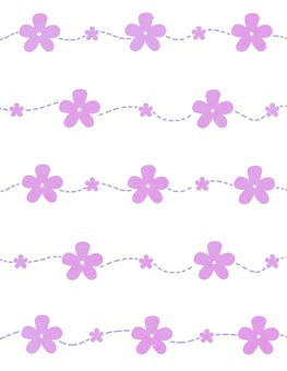 Purple cute flower pattern wallpaper
