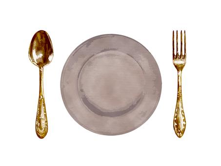 스푼 & 포크 접시