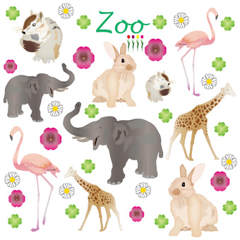 Illustration set of the zoo