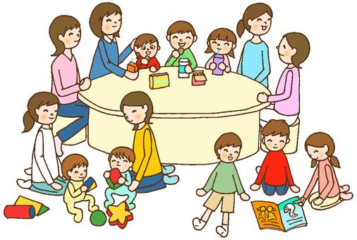 Parent-child circle line tea