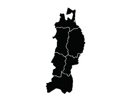 Tohoku region map