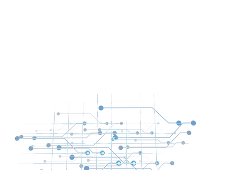 Digital cyber system blue frame