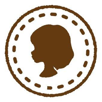 Antique stamp female 2