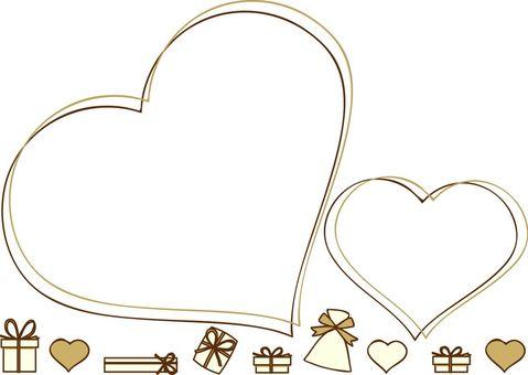 Kalp ve hediye çerçevesi