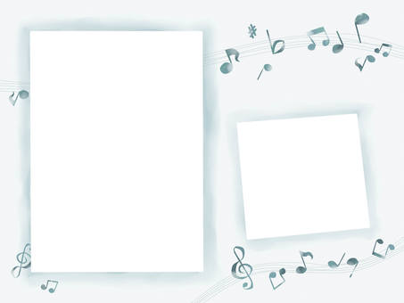 Frame note indigo