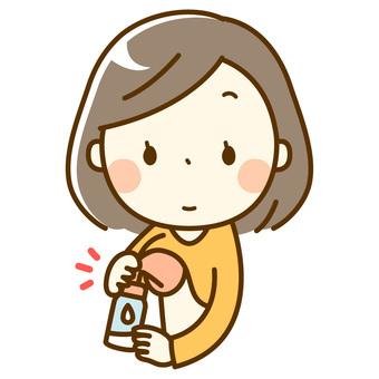 Bob's woman _ breast milking