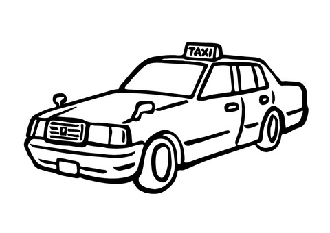 手描き_タクシー