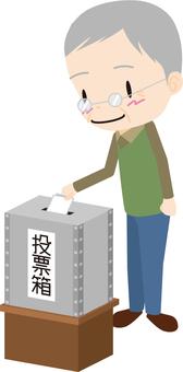 Voting (elderly men)