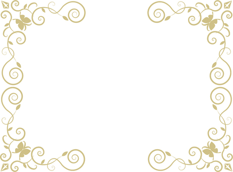 Butterfly decorative frame (gold frame 1)