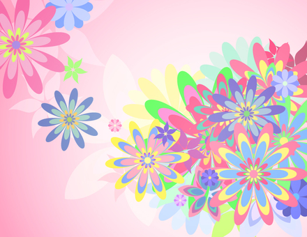 Colorful flowers _ pink