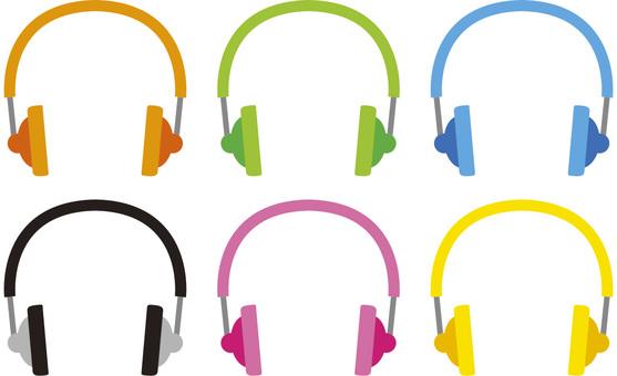 Colorful headphones (headphones)