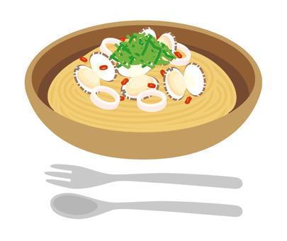 Pasta soup pasta clams