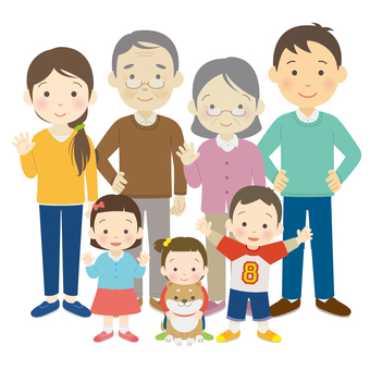 全身の三世代家族2