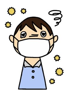 Male with hay fever
