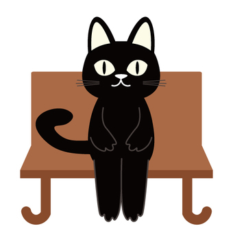 A black cat sitting on a chair