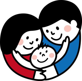 부모와 자식 하트