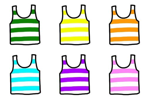 Tank top border six colors