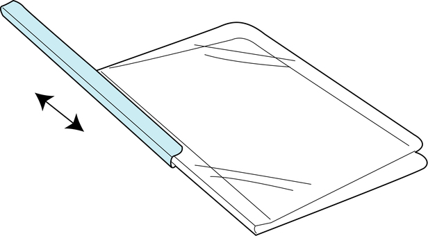 Clear holder (with rail)