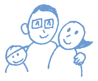 Hand-painted _ Family _ Blue