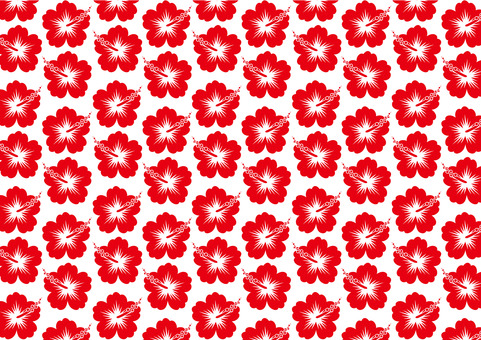 Hibiscus pattern (red)