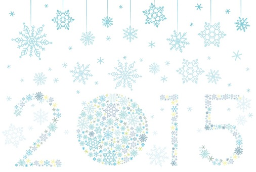 Simple shade Snow crystal New year's card