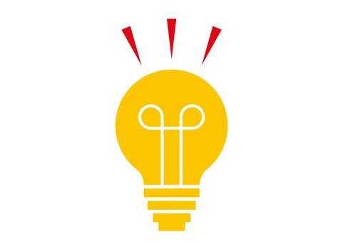 燈泡,想法圖標標記