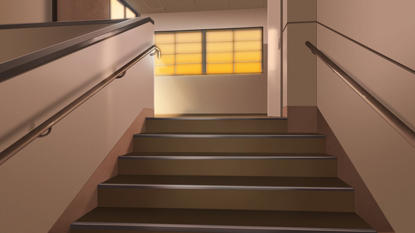 School Stairs (Evening)