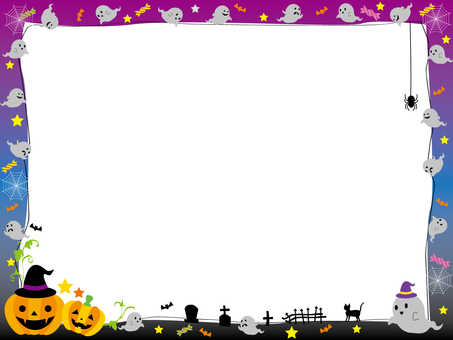 Halloween frame ghost 1