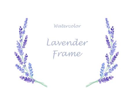 Watercolor lavender side frame