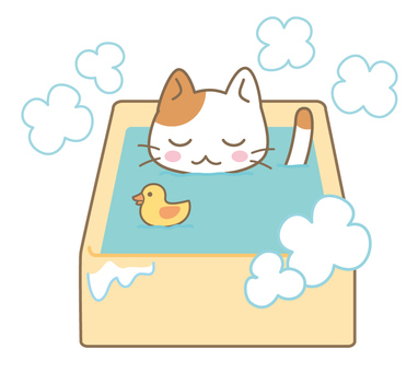 Nyanko in the bath