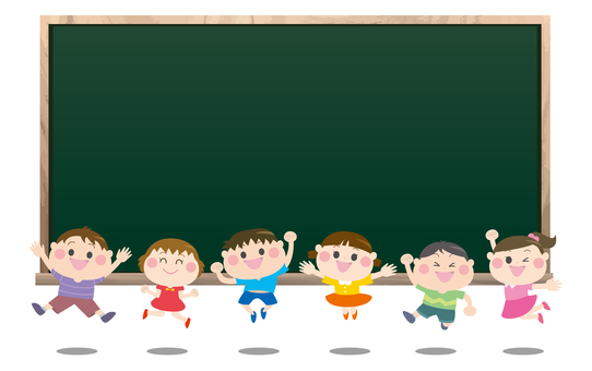 子供ジャンプ黒板フレーム
