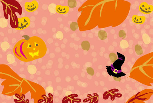 Halloween cute background material