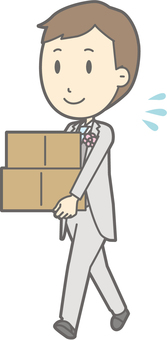 Groom clothes - baggage carry - whole body