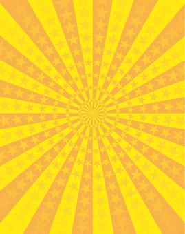Yellow and orange star radiation