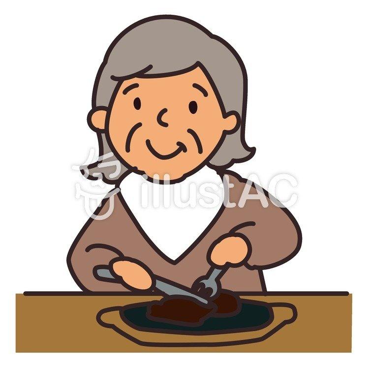 ステーキを食べる人イラスト No 897563無料イラストならイラストac