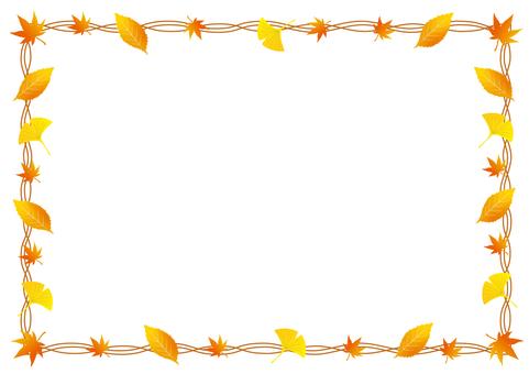 낙엽과 단풍의 프레임