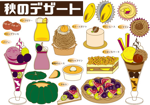 Various autumn desserts