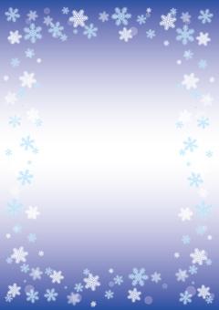 눈송이 프레임 (블루)
