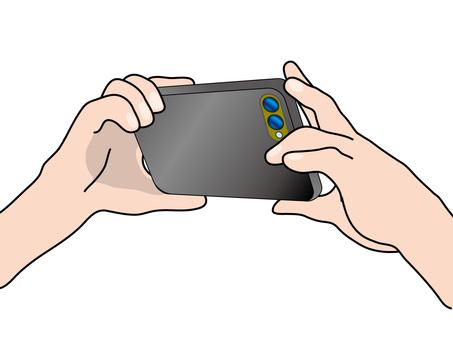 Photo (36) Black smartphone with smartphone