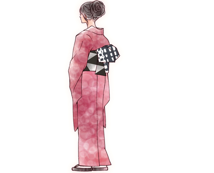Kimono in the back view