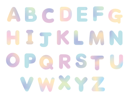 Watercolor alphabet 2