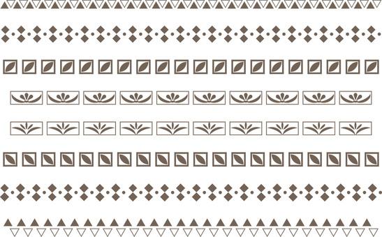 シンプルな飾り罫8