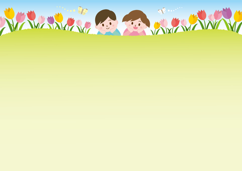 Tulip field and children _A01